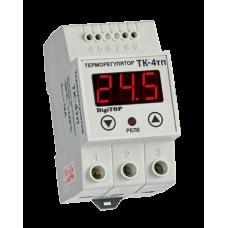ТК-4Т одноканальний циф.терморегулятор з датчиком DS18B20 на DIN-рейку DigiTOP