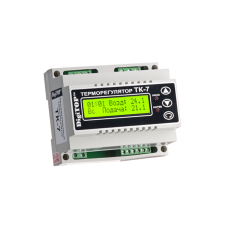 ТК-7 трьохканальний циф.терморегулятор з тижневим програматором датчик DS18B20 на DIN-рейку DigiTOP