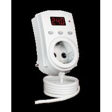 ТР-1 одноканальний циф.терморегулятор з датчиком DS18B20 10см (в розетку) DigiTOP