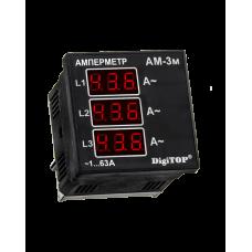 Амперметр  DigiTOP AМ-3М (зовнішній ТТ) 3-ф