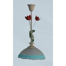 Підвіс тюльпан беж світильник декоративний