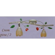 Спот роза/2 ржа світильник декоративний