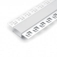 CAB254 профиль вбудований прихований, срібно, 6.15х1.4см длина 2м 6810 ФЕРОН 10362