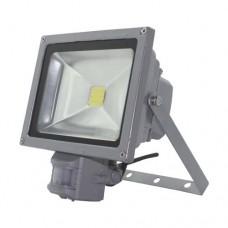 Прожектор LL-834 1LED 20W білий 6400K(+датчик) 230V (180*140*103mm) срібно  IP 44 4860 ФЕРОН 12985