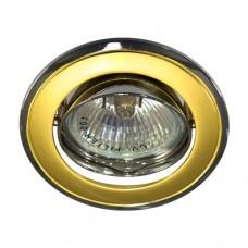 Свiтильник точковий 301Т плоско-поворот. под MR-16 золото-хром/D/L GU5.3 GD-CM 761 ФЕРОН 17531