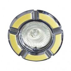Свiтильник точковий 098Т под MR-16 золото-хром/круглий/плоско-поворот. 1671 ФЕРОН 17638