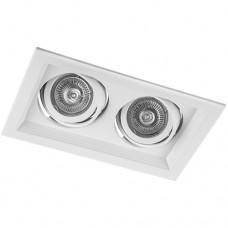 Свiтильник точковий DLT202 2хMR16/G5.3 білий поворотний 6007 ФЕРОН 29771
