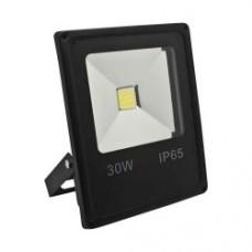 Прожектор LL-838 1LED 30W білий 6400K 230V (225*185*48mm) чорний  IP 65 ФЕРОН 4756