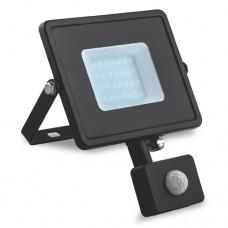 Прожектор LL-904  10W  6400K  (+датчик) 230V  (115*154*53mm) Чорний  IP 44 ФЕРОН 6395