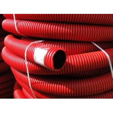 Гофротрубка гнучка 16мм червона ДКС 11516