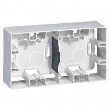 Коробка накладного монтажу 2-постова Білий ETIKA Legrand 672530