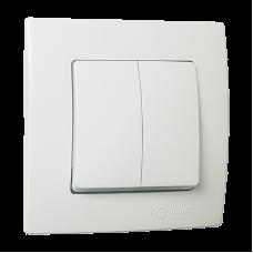 Вимикач 2-клавішний  білий Lillium Natural Kare MAKEL 32001003