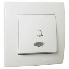 Кнопка дзвінка з підсвітленням 220 V  білий Lillium Natural Kare MAKEL 32001070