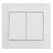 Вимикач 2-клавішний  білий Defne MAKEL 42001003