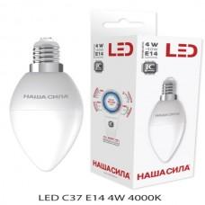 C37 E14 4W 3000 K свічка LED-лампа НАША СИЛА
