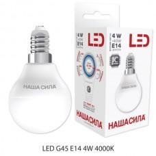G45 E14 4W 4000 K куля LED-лампа НАША СИЛА 2939