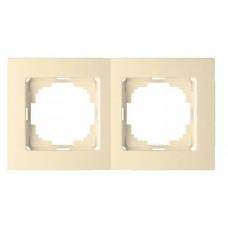 Рамка двійна горизонтальна біла Touran Nilson 24110092