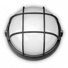 SL-1052 60W світильник круглий чорний з решіткою Екострум