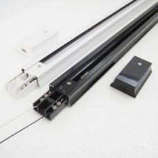 Шинопровід для інсталяції трекових LED-світильників 1м 1-PHS-1MB (білий) 1-PHS-1MB