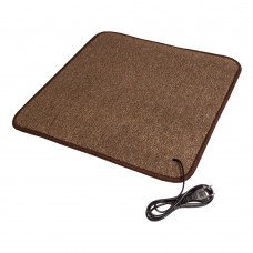 Електричний килимок з підігрівом 100x100 см двосторонній Бежевий 100100DN-BE