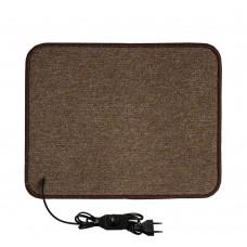 Електричний килимок з підігрівом 50x40 см з термоізоляцією з регулятором Бежевий 5040TD-BE