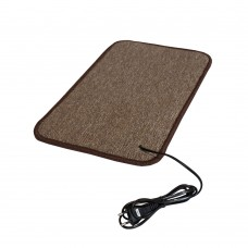 Електричний килимок з підігрівом 50x30 см двосторонній Бежевий 5030DN-BE