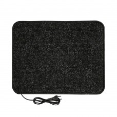 Електричний килимок з підігрівом 50x40 см двосторонній Чорний 5040DN-BLK