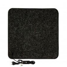 Електричний килимок з підігрівом 50x50 см з термо та гідроізоляцією з регулятором Чорний 5050THD-BLK