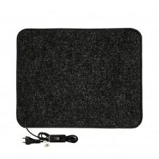 Електричний килимок з підігрівом 50x40 см двосторонній з вимикачем Чорний 5040DS-BLK
