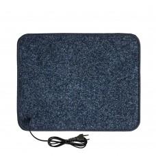 Електричний килимок з підігрівом 55x70 см з термоізоляцією Темно-синій 5570TN-DBL