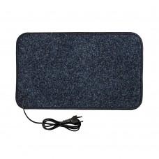 Електричний килимок з підігрівом 50x30 см з термоізоляцією Темно-синій 5030TN-DBL