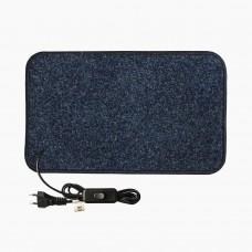 Електричний килимок з підігрівом 50x100 см двосторонній з вимикачем Темно-синій 50100DS-DBL
