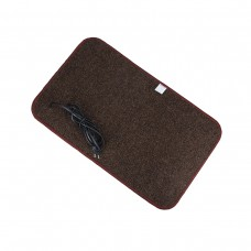 Електричний килимок з підігрівом 50x30 см з термоізоляцією Темно-коричневий 5030TN-DBR