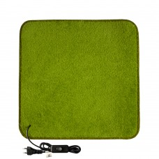Електричний килимок з підігрівом 100x100 см з термо та гідроізоляцією з вимикачем Світло-зелений 100100THS-LGN