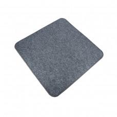 Електричний килимок з підігрівом 50x50 см двосторонній з вимикачем Темно-сірий 5050DS-DGR