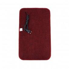 Електричний килимок з підігрівом 50x30 см з термоізоляцією Темно-червоний 5030TN-DR