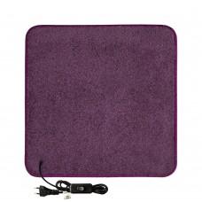 Електричний килимок з підігрівом 100x100 см двосторонній з вимикачем Фіолетовий 100100DS-PR