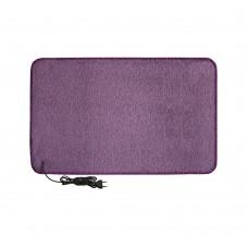 Електричний килимок з підігрівом 50x80 см з термо та гідроізоляцією з регулятором Фіолетовий 5080THD-PR