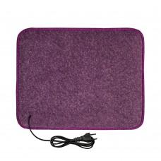 Електричний килимок з підігрівом 55x70 см з термо та гідроізоляцією Фіолетовий 5570THN-PR
