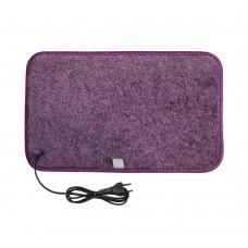 Електричний килимок з підігрівом 50x30 см з термоізоляцією Фіолетовий 5030TN-PR