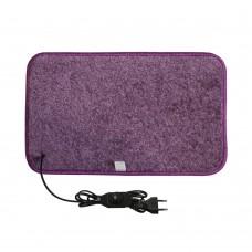 Електричний килимок з підігрівом 50x30 см з термоізоляцією з регулятором Фіолетовий 5030TD-PR