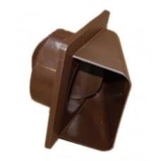 Вентиляційна решітка KRD 100 коричнева Dospel 007-0317