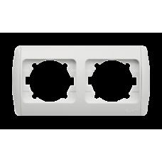 Рамка ZIRVE 2-а біла  гориз. 501-0200-226