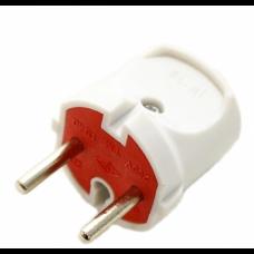 Вилка EL-BI 6А біл-червона  505-0601-810