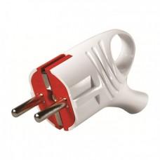 Вилка з ручкою (08) з нулем біл/червона EL-BI 16А 505-0111-800