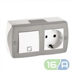 Блок (вимикач та розетка)